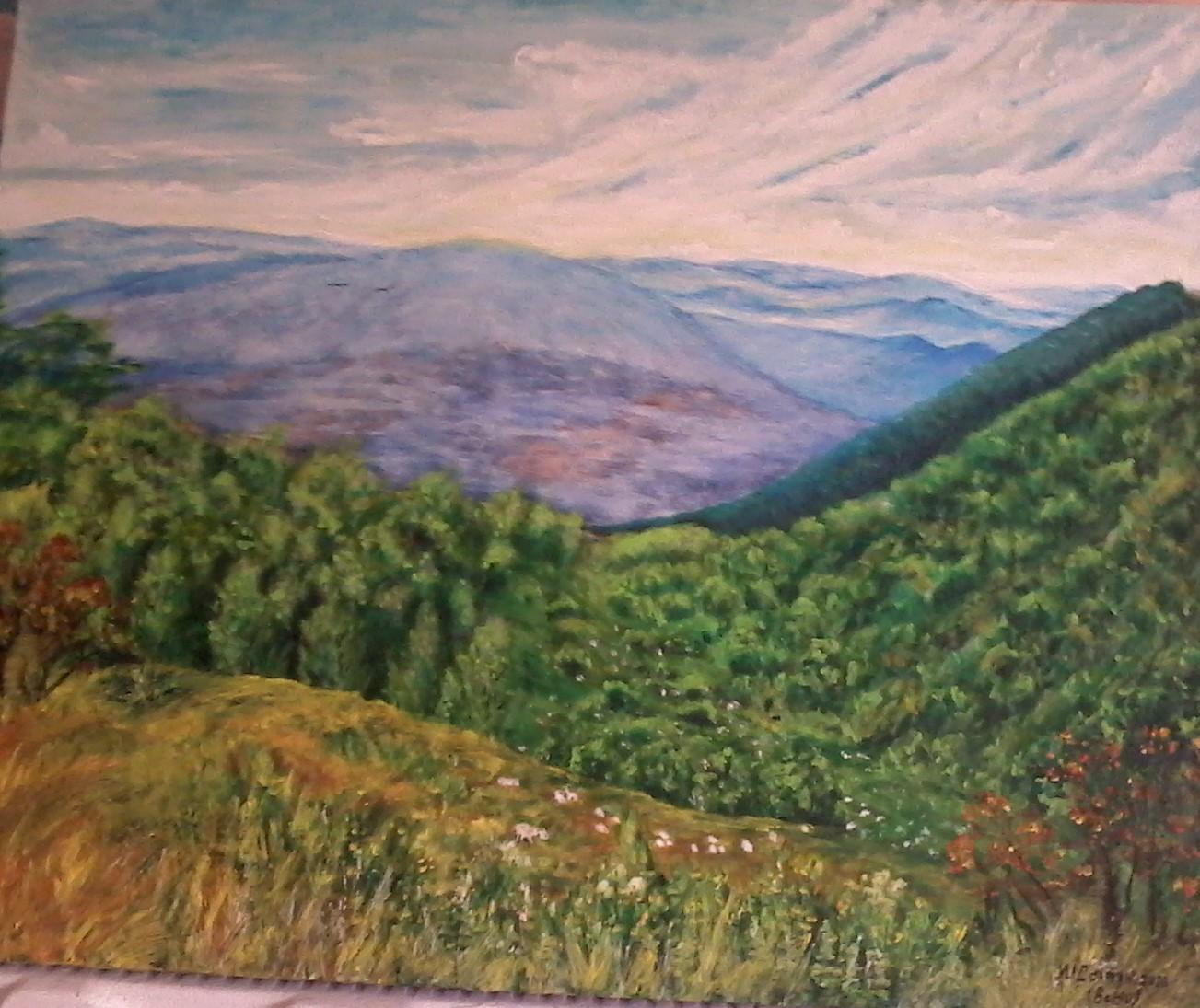 Вид на гори Карпати або Столітній спокій1
